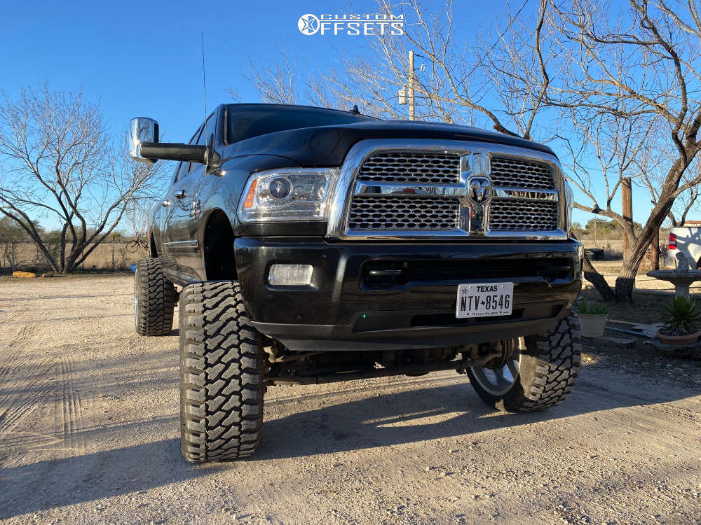 """2016 Ram 2500 Aggressive > 1"""" outside fender on 26x14 -90 offset American Force Peak Cc & 38""""x15.5"""" Fury Offroad Country Hunter Mt on Suspension Lift 9"""" - Custom Offsets Gallery"""