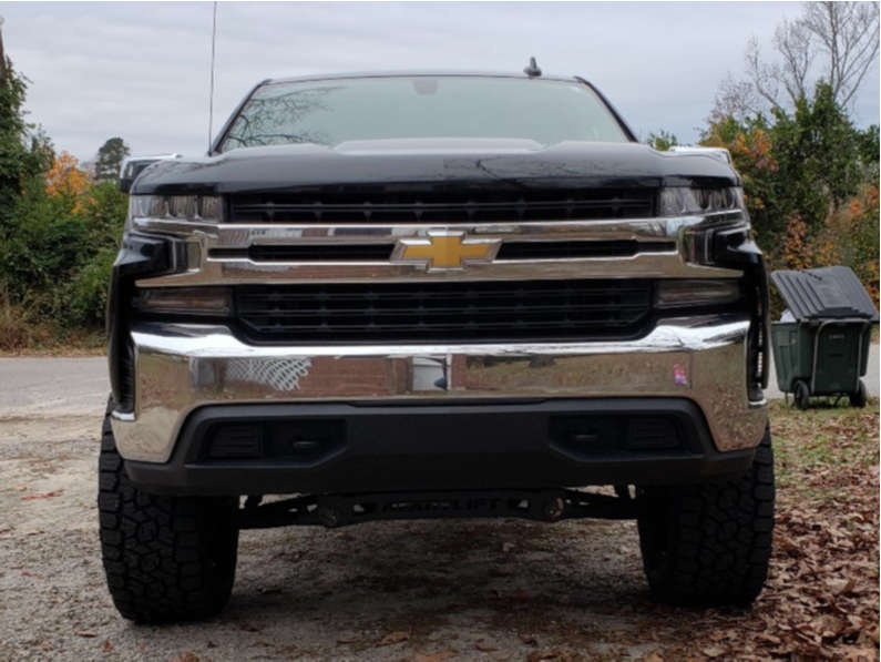"""2020 Chevrolet Silverado 1500 Slightly Aggressive on 20x9 0 offset Anthem Off-Road Equalizer and 35""""x13.5"""" Toyo Tires Open Country A/t Iii on Suspension Lift 6"""" - Custom Offsets Gallery"""
