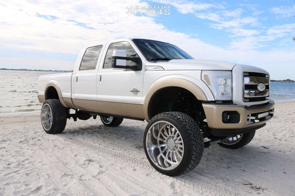 """2012 Ford F-250 Super Duty Super Aggressive 3""""-5"""" on 26x14 -76 offset Cali Off-Road Summit and 37""""x13.5"""" Venom Power Terra Hunter X/T on Suspension Lift 8"""" - Custom Offsets Gallery"""