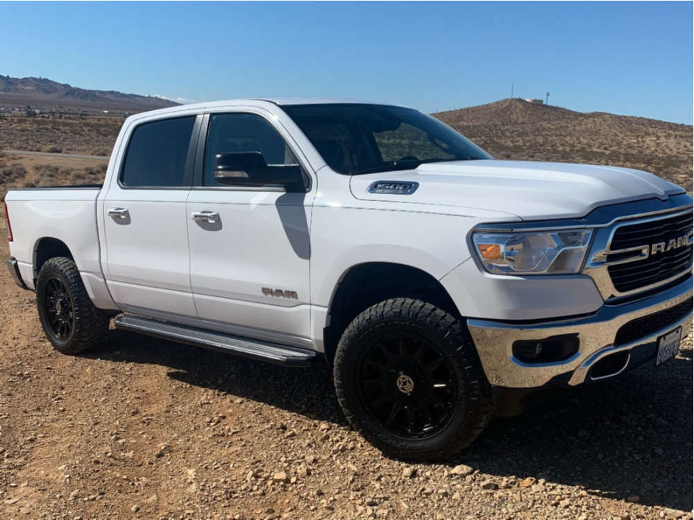 """2019 Ram 1500 Flush on 20x9 0 offset Anthem Off-Road Liberty and 275/60 Nitto Ridge Grappler on Suspension Lift 2.5"""" - Custom Offsets Gallery"""