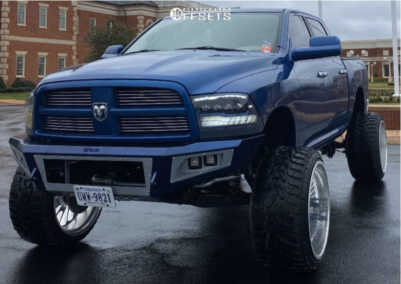 """2011 Ram 1500 Hella Stance >5"""" on 26x16 -106 offset Bcr Wheels BCR 026 and 36""""x14.5"""" Versatyre Mxt on Suspension Lift 7.5"""" & Body 3"""" - Custom Offsets Gallery"""
