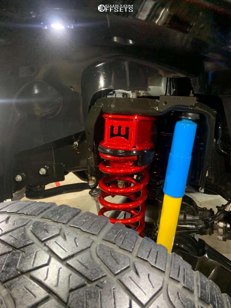 "2019 Ram 2500 Hella Stance >5"" on 24x14 -76 offset Hostile Sprocket & 325/45 Pirelli Scorpion All Terrain Plus on Suspension Lift 3.5"" - Custom Offsets Gallery"