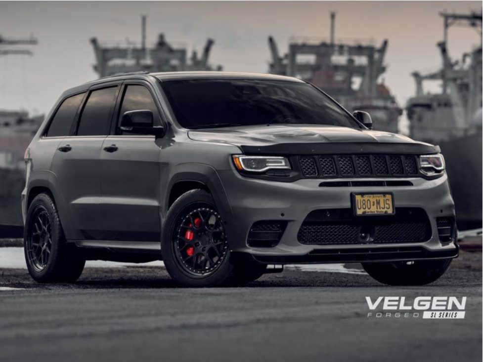 2018 Jeep Grand Cherokee Flush on 20x11 22 offset Velgen Vf5 and 295/45 Continental Extreme Contact Dws06 on Lowered on Springs - Custom Offsets Gallery