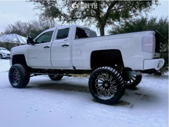 """2017 Chevrolet Silverado 1500 Super Aggressive 3""""-5"""" on 26x14 -76 offset Hardcore Offroad Hc15 & 37""""x13.5"""" Road One Aethon M/t on Suspension Lift 10"""" - Custom Offsets Gallery"""