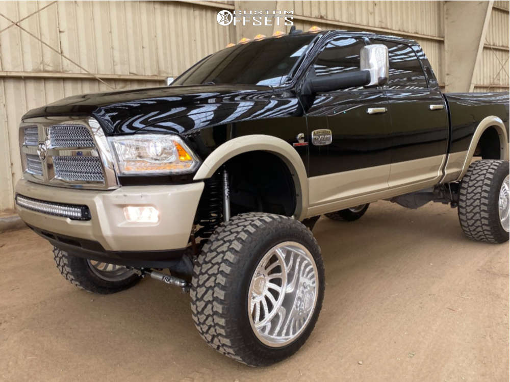 """2015 Ram 2500 Aggressive > 1"""" outside fender on 24x16 -101 offset Specialty Forged Sf007 and 38""""x15.5"""" Fury Offroad Country Hunter Mt on Suspension Lift 8"""" - Custom Offsets Gallery"""