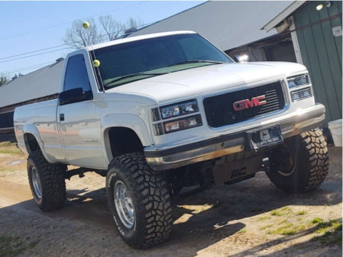 """1998 GMC K2500 Aggressive > 1"""" outside fender on 16x10 -35 offset Ultra 164 and 35""""x12.5"""" Cooper Discoverer on Suspension Lift 6"""" - Custom Offsets Gallery"""