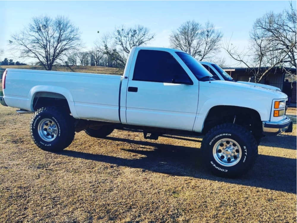 """1998 GMC K3500 Aggressive > 1"""" outside fender on 16x10 -35 offset Ultra 164 and 35""""x12.5"""" Cooper Discoverer At3 on Suspension Lift 6"""" - Custom Offsets Gallery"""