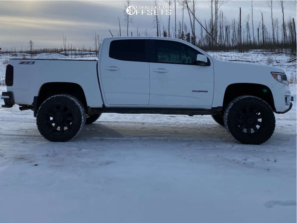 "2020 Chevrolet Colorado Aggressive > 1"" outside fender on 20x9 0 offset XD XD852 Gauntlet & 33""x12.5"" BFGoodrich All Terrain Ta Ko2 on Suspension Lift 4"" - Custom Offsets Gallery"