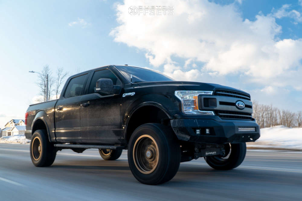 """2018 Ford F-150 Aggressive > 1"""" outside fender on 20x10 -18 offset Anthem Off-Road Rogue and 35""""x12.5"""" Gladiator Xcomp At on Suspension Lift 6"""" - Custom Offsets Gallery"""