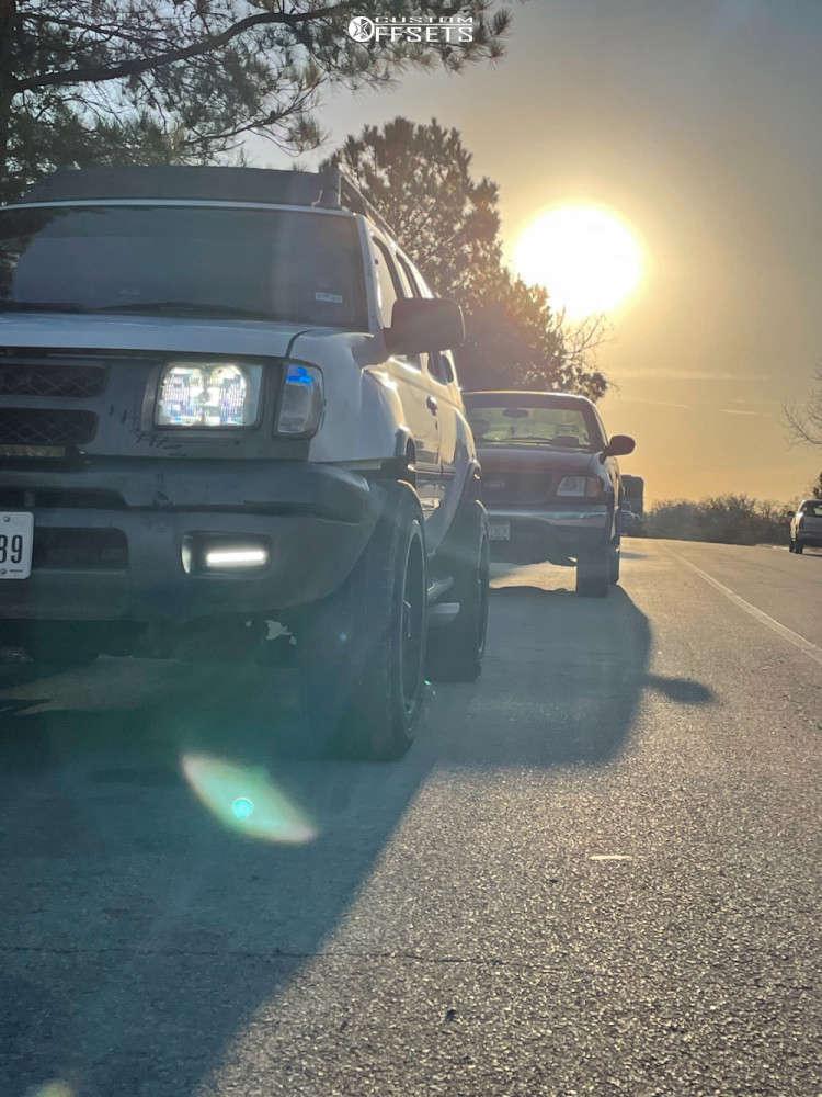 "2000 Nissan Xterra Slightly Aggressive on 20x9 -19 offset Havok H108 and 30""x9.5"" Nexen N5000 on Stock Suspension - Custom Offsets Gallery"
