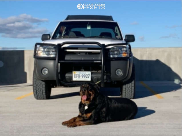"""2002 Nissan Frontier Aggressive > 1"""" outside fender on 16x8 0 offset Vision Turbine 353 and 275/65 Toyo Tires Open Country A/t Iii on Leveling Kit - Custom Offsets Gallery"""
