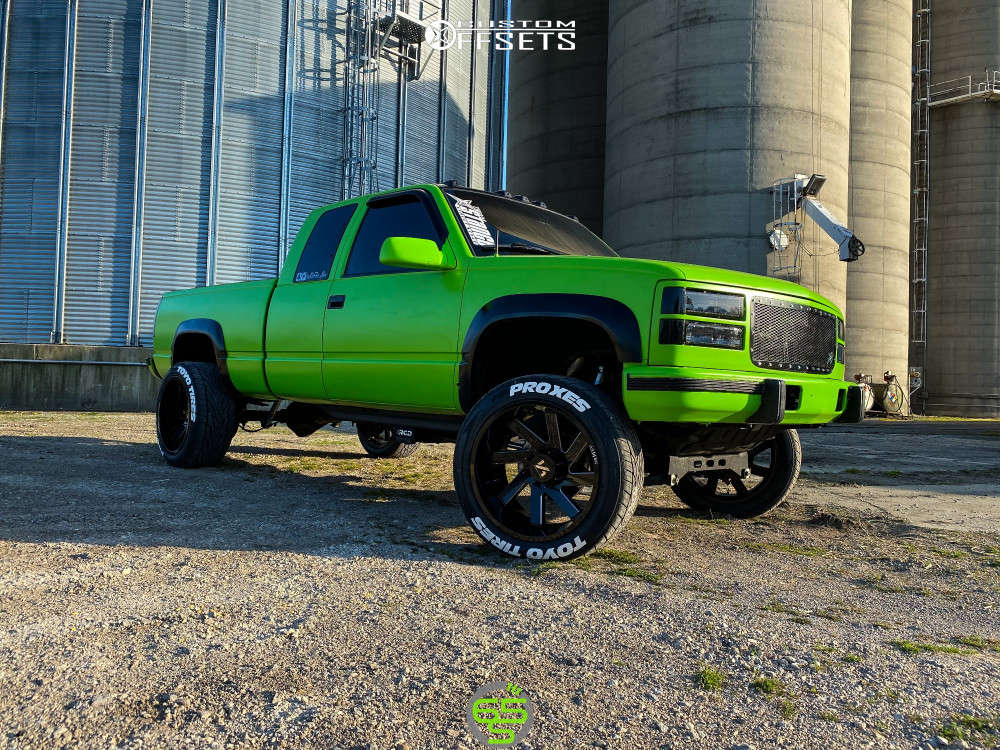 """1997 Chevrolet K2500 Super Aggressive 3""""-5"""" on 22x12 -51 offset ARKON OFF-ROAD Lincoln & 305/45 Toyo Tires Proxes St Iii on Suspension Lift 4"""" - Custom Offsets Gallery"""