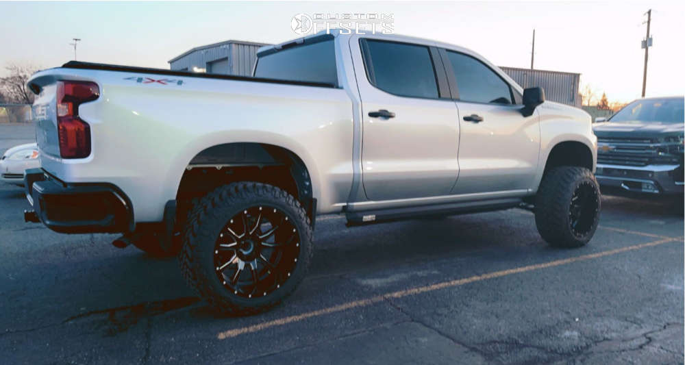 """2019 Chevrolet Silverado 1500 Super Aggressive 3""""-5"""" on 22x12 -45 offset Fuel Vandal and 35""""x12.5"""" Nitto Trail Grappler on Suspension Lift 6"""" - Custom Offsets Gallery"""