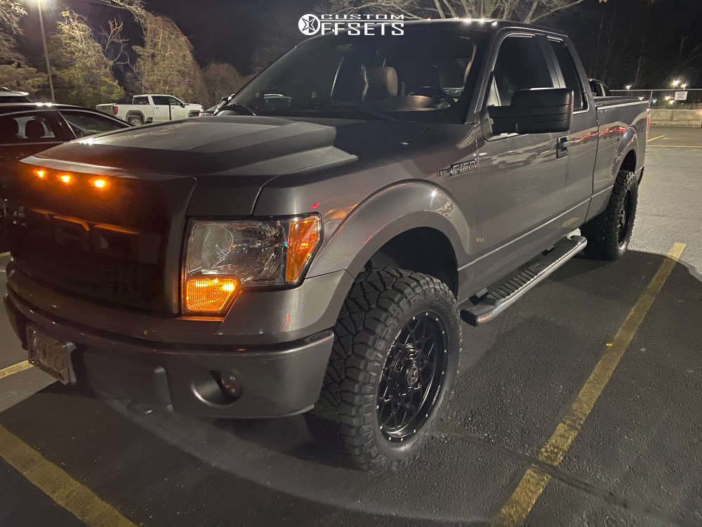 """2013 Ford F-150 Aggressive > 1"""" outside fender on 20x9 0 offset Anthem Off-Road Avenger and 305/55 Nitto Ridge Grappler on Leveling Kit - Custom Offsets Gallery"""