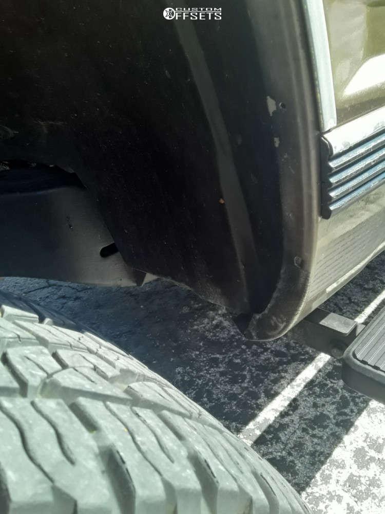 "1997 Chevrolet C1500 Aggressive > 1"" outside fender on 20x9 -18 offset Mayhem Chaos 8030 & 275/55 Nexen Roadian At Pro Ra8 on Suspension Lift 6"" - Custom Offsets Gallery"