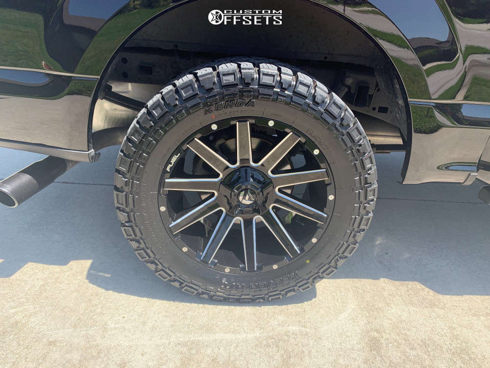 """2017 Ford F-150 Aggressive > 1"""" outside fender on 20x10 -19 offset Fuel Contra and 33""""x12.5"""" Kenda Klever At on Leveling Kit - Custom Offsets Gallery"""