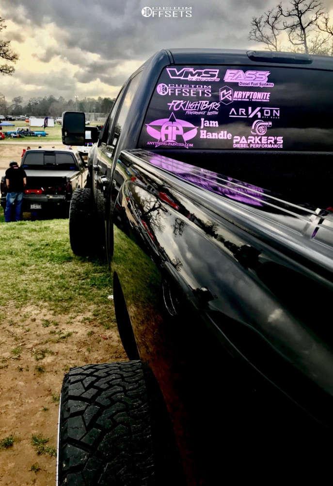 """2012 Chevrolet Silverado 2500 HD Hella Stance >5"""" on 26x14 -81 offset ARKON OFF-ROAD Caesar & 35""""x13.5"""" Venom Power Terra Hunter X/t on Suspension Lift 4"""" - Custom Offsets Gallery"""