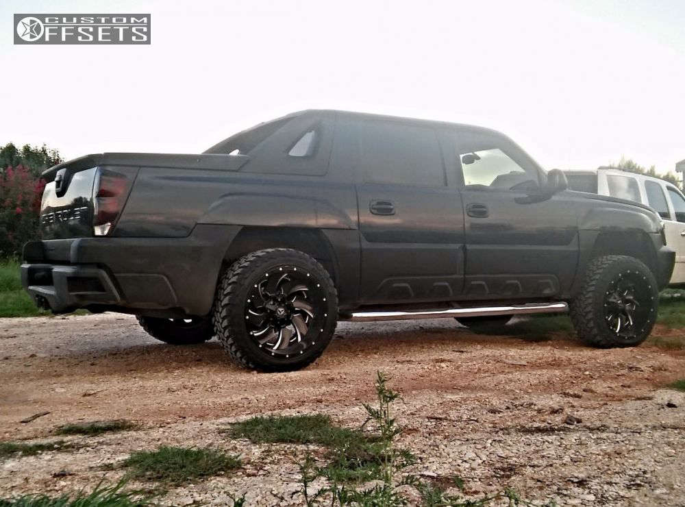 """2006 Chevrolet Avalanche Super Aggressive 3""""-5"""" on 22x12 -44 offset Fuel Cleaver & 33""""x12.5"""" Toyo Tires Open Country M/T on Leveling Kit - Custom Offsets Gallery"""