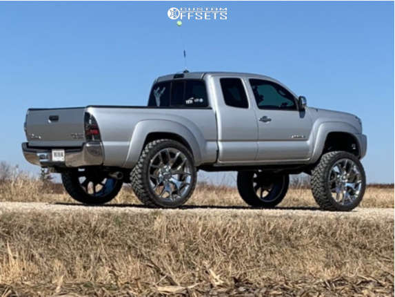 """2006 Toyota Tacoma Aggressive > 1"""" outside fender on 26x10 31 offset OE Revolution G04 and 37""""x13.5"""" RBP Repulsor Mt on Suspension Lift 12"""" - Custom Offsets Gallery"""