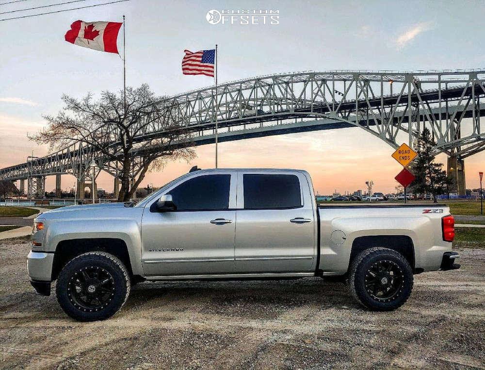 2018 Chevrolet Silverado 1500 HellaFlush on 20x9 0 offset Anthem Off-Road Rogue and 275/60 BFGoodrich All Terrain TA KO2 on Leveling Kit - Custom Offsets Gallery
