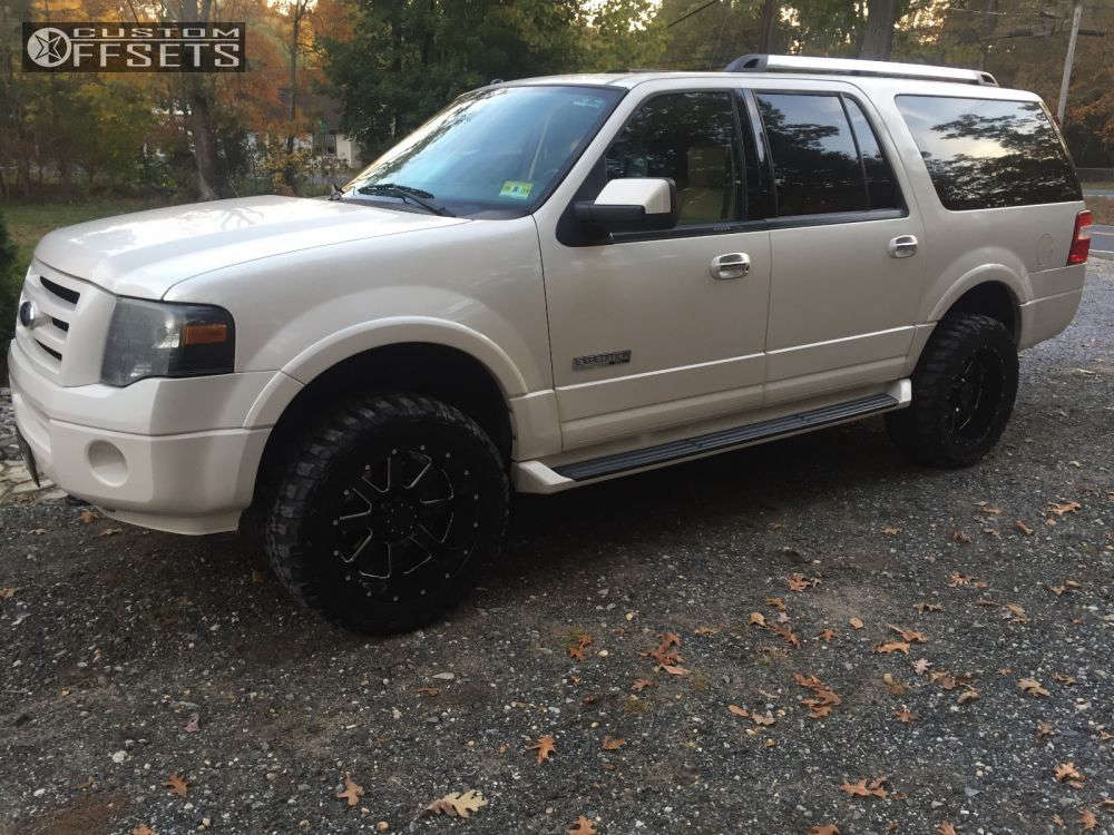 """2007 Ford Expedition  on 20x10 -19 offset Gear Off-Road Big Block and 33""""x12.5"""" Federal Couragia MT on Leveling Kit - Custom Offsets Gallery"""