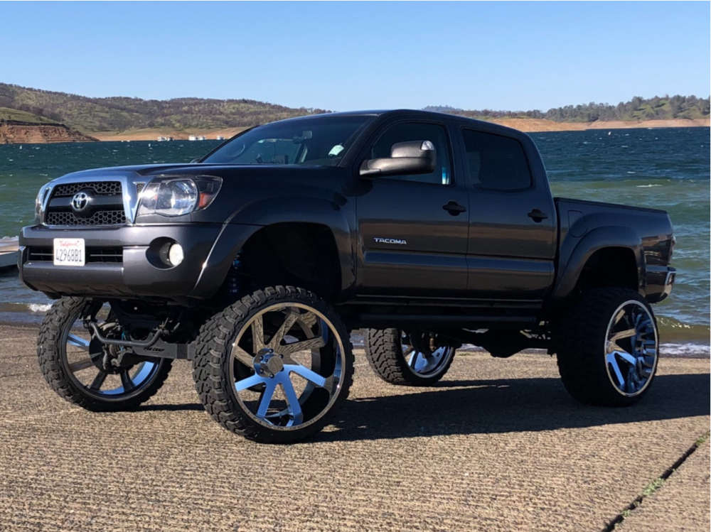 """2011 Toyota Tacoma Aggressive > 1"""" outside fender on 26x14 -81 offset ARKON OFF-ROAD Lincoln and 35""""x15.5"""" Fury Offroad Country Hunter Mt on Suspension Lift 7"""" & Body 3"""" - Custom Offsets Gallery"""