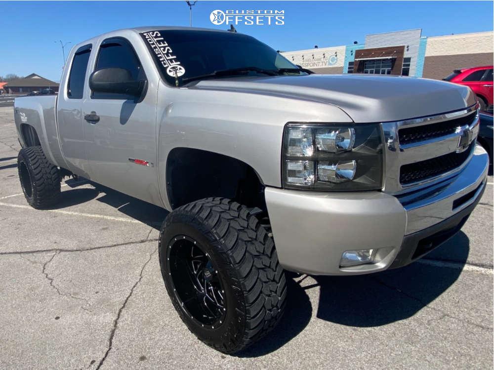 "2007 Chevrolet Silverado 1500 HD Super Aggressive 3""-5"" on 20x12 -44 offset Hardrock Crusher & 35""x12.5"" AMP Mud Terrain Attack Mt A on Suspension Lift 7.5"" - Custom Offsets Gallery"