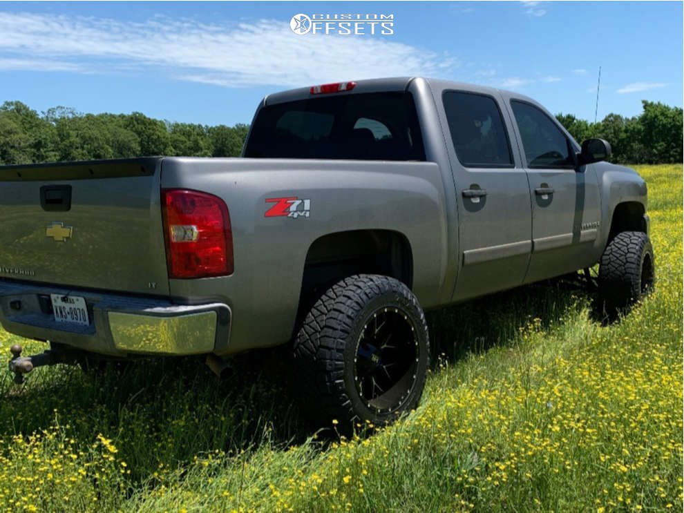 """2008 Chevrolet Silverado 1500 Aggressive > 1"""" outside fender on 20x12 -44 offset Hardrock Affliction and 35""""x12.5"""" Nitto Ridge Grappler on Suspension Lift 6"""" - Custom Offsets Gallery"""
