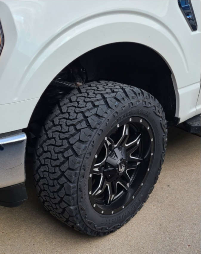 """2021 Ford F-150 Aggressive > 1"""" outside fender on 20x9 -12 offset XD XD838 & 33""""x12.5"""" Atturo Terra Hunter X/t on Stock - Custom Offsets Gallery"""