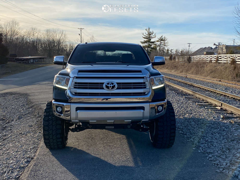 """2014 Toyota Tundra Super Aggressive 3""""-5"""" on 26x14 -76 offset RBP Forged Thunder and 37""""x13.5"""" Gladiator Xcomp Mt on Suspension Lift 8"""" - Custom Offsets Gallery"""
