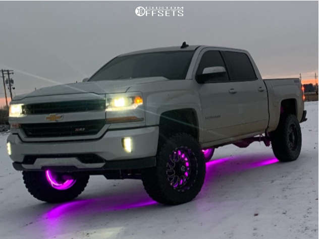 """2016 Chevrolet 1500 Aggressive > 1"""" outside fender on 20x10 -24 offset TIS 544bm and 35""""x12.5"""" Mastercraft Courser Mxt on Suspension Lift 7"""" - Custom Offsets Gallery"""