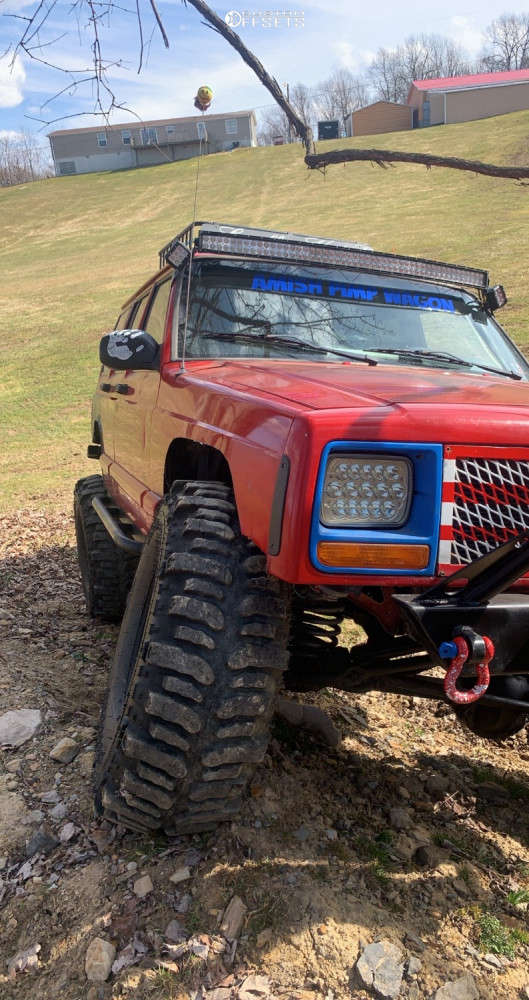 """1998 Jeep Cherokee Super Aggressive 3""""-5"""" on 15x8 -19 offset Trail Master Tm5 and 35""""x12.5"""" Tsl Bogger on Suspension Lift 8"""" - Custom Offsets Gallery"""