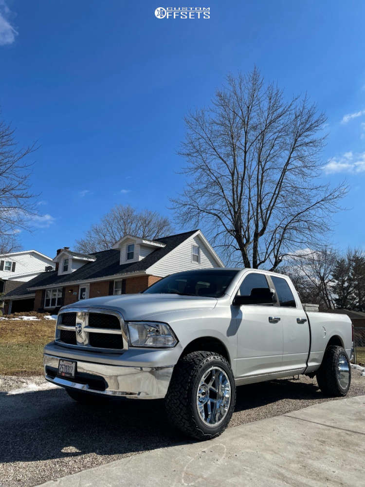 "2010 Dodge Ram 1500 Super Aggressive 3""-5"" on 20x12 -51 offset Vision Sliver and 33""x12.5"" Venom Power Terra Hunter X/t on Suspension Lift 2.5"" - Custom Offsets Gallery"