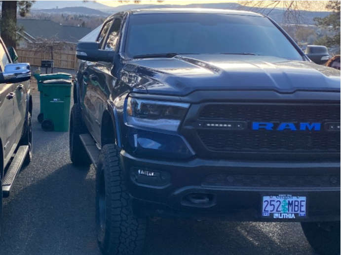 """2020 Ram 1500 Aggressive > 1"""" outside fender on 20x10 -44 offset XD Xd820 and 37""""x12.5"""" Falken Wildpeak At3w on Suspension Lift 6"""" - Custom Offsets Gallery"""