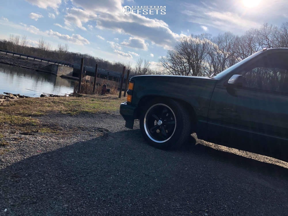 1998 Chevrolet Tahoe Nearly Flush on 20x8.5 10 offset Vision Legend 5 and 275/45 Goodyear Eagle Sport All Season Rof on Lowered 2F / 4R - Custom Offsets Gallery