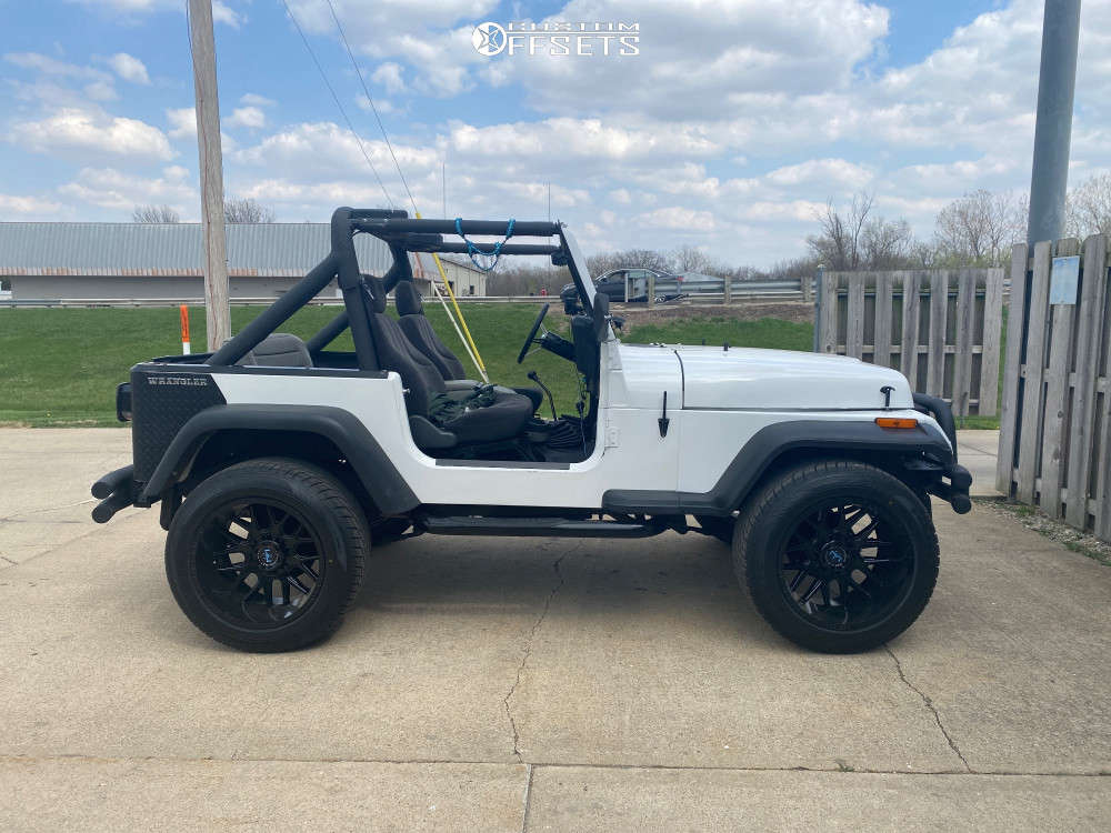 """1989 Jeep Wrangler Aggressive > 1"""" outside fender on 20x12 -44 offset Motiv Offroad Magnus and 305/20 Toyo Tires Proxes S/T on Stock Suspension - Custom Offsets Gallery"""