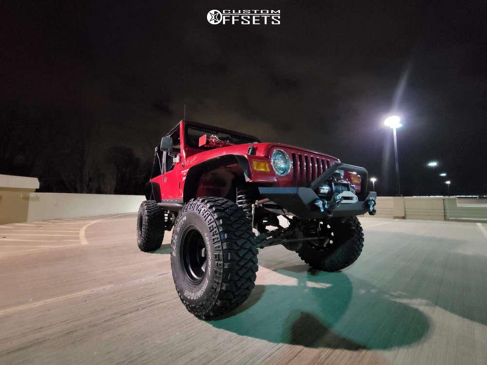 "2001 Jeep TJ Super Aggressive 3""-5"" on 15x10 -43 offset American Racing Baja & 35""x12.5"" Mickey Thompson Baja Mtz on Suspension Lift 6"" - Custom Offsets Gallery"