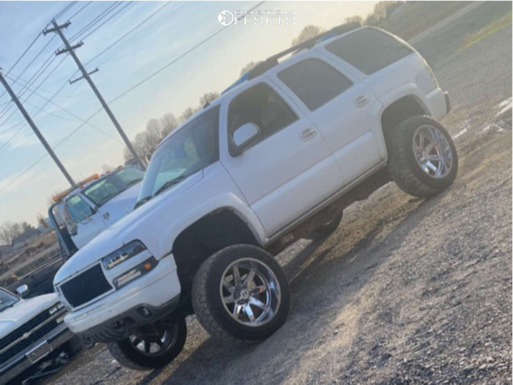 """2003 Chevrolet Tahoe Super Aggressive 3""""-5"""" on 22x12 -44 offset Hostile Alpha and 35""""x12.5"""" Toyo Tires Open Country Rt on Suspension Lift 6"""" & Body 3"""" - Custom Offsets Gallery"""