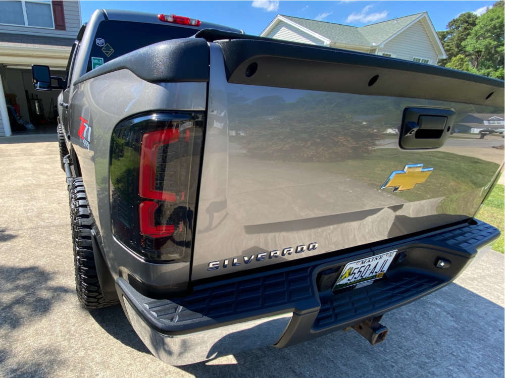 """2013 Chevrolet Silverado 1500 Aggressive > 1"""" outside fender on 20x10 -25 offset ARKON OFF-ROAD Caesar and 33""""x12.5"""" Fury Offroad Country Hunter RT on Suspension Lift 3.5"""" - Custom Offsets Gallery"""