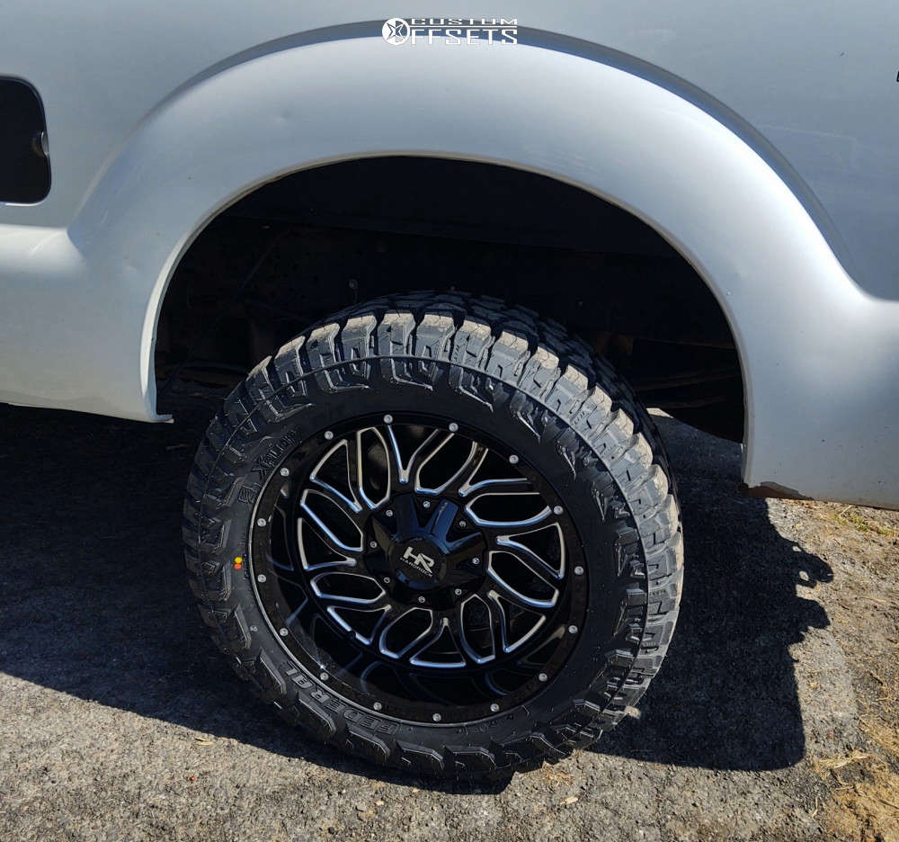"""2014 Ford F-250 Super Duty Aggressive > 1"""" outside fender on 20x10 -19 offset Hardrock Destroyer and 33""""x12.5"""" Federal Xplora Rt on Stock Suspension - Custom Offsets Gallery"""