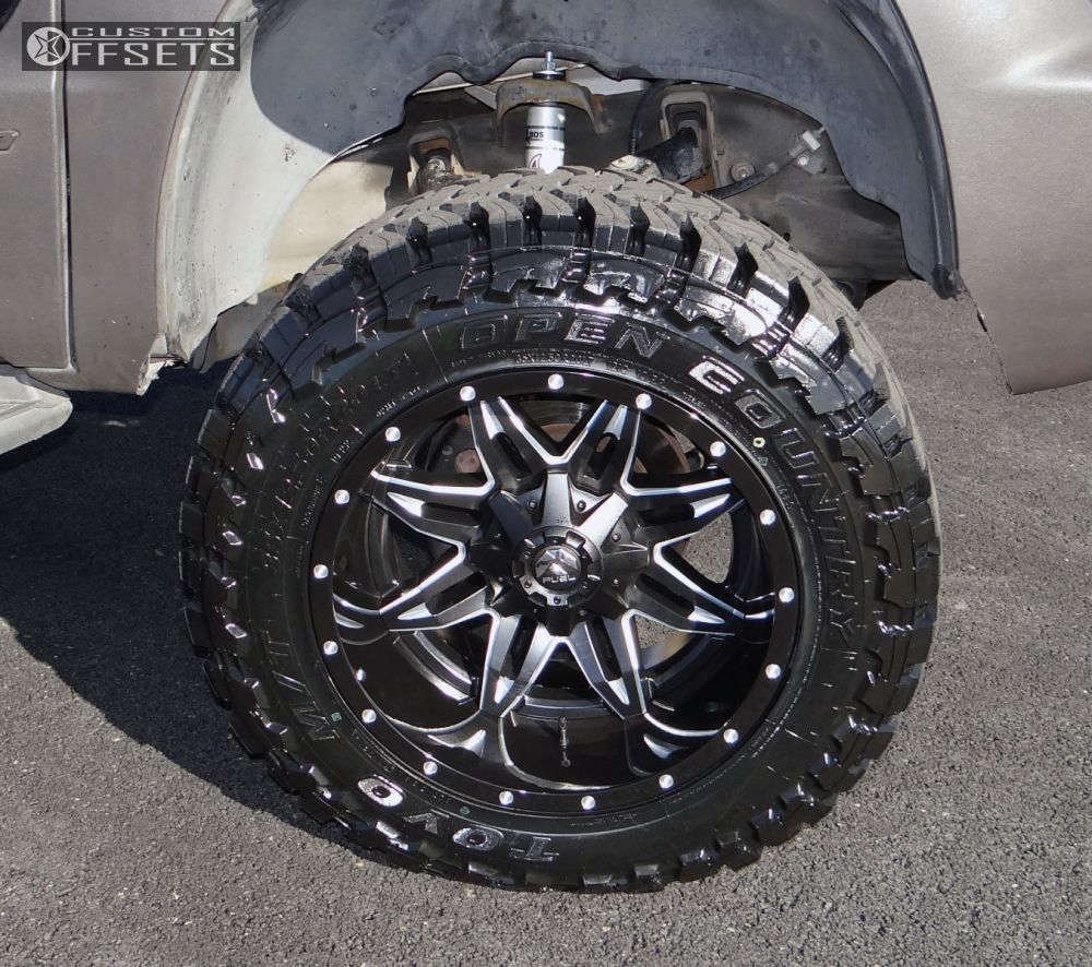 """2003 Chevrolet Avalanche 2500 Super Aggressive 3""""-5"""" on 20x12 -44 offset Fuel Lethal & 35""""x12.5"""" Toyo Tires Open Country M/T on Suspension Lift 7"""" - Custom Offsets Gallery"""