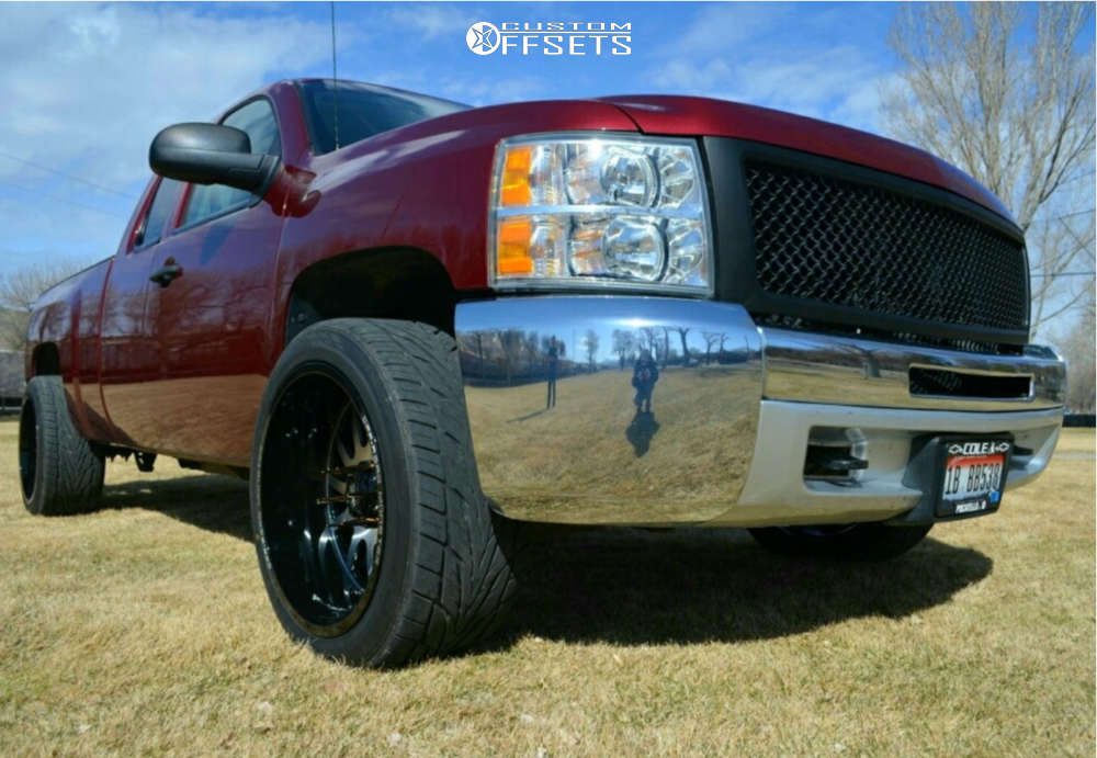 """2013 Chevrolet Silverado 1500 Super Aggressive 3""""-5"""" on 22x12 -44 offset Off Road Monster M17 and 305/40 Toyo Tires Proxes St Iii on Level 2"""" Drop Rear - Custom Offsets Gallery"""