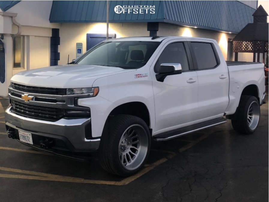 """2019 Chevrolet Silverado 1500 Super Aggressive 3""""-5"""" on 22x12 -44 offset Asanti Ab815 and 305/40 Michelin Defender Ltx M/s on Leveling Kit - Custom Offsets Gallery"""