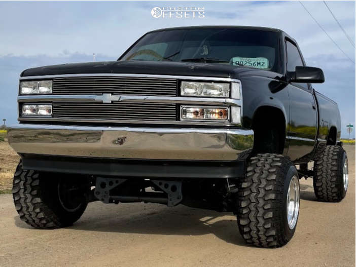 "1990 Chevrolet K1500 Super Aggressive 3""-5"" on 15x14 -101 offset Weld Racing Scorpio & 30""x11.5"" Super Swamper Tsl Sx on Suspension Lift 8"" - Custom Offsets Gallery"