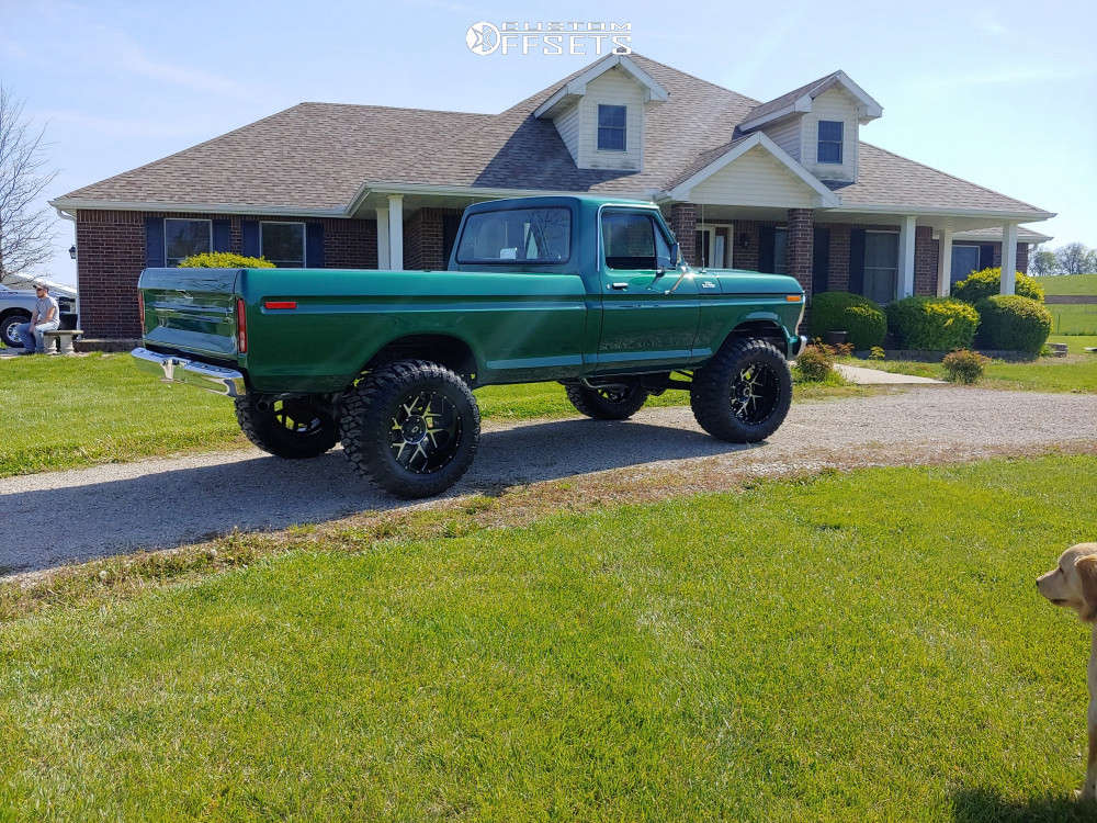 """1978 Ford F-150 Aggressive > 1"""" outside fender on 20x12 -44 offset Vision Sliver and 36""""x15.5"""" Atturo Trail Blade Boss on Suspension Lift 4"""" - Custom Offsets Gallery"""