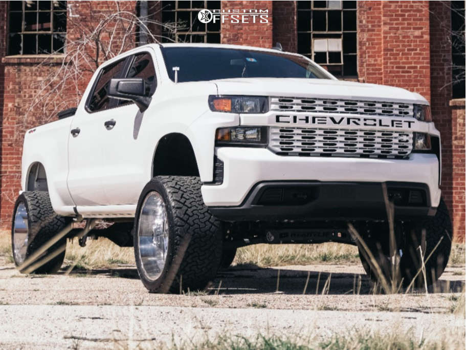 "2020 Chevrolet Silverado 1500 Super Aggressive 3""-5"" on 24x14 -78 offset Tis 544c and 35""x15.5"" Venom Power Terra Hunter X/t on Suspension Lift 8"" - Custom Offsets Gallery"
