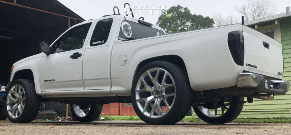 """2005 GMC Canyon Aggressive > 1"""" outside fender on 24x10 30 offset Eclipse Replica 288 and 33""""x11.5"""" Toyo Proxes ST III on Suspension Lift 5"""" - Custom Offsets Gallery"""