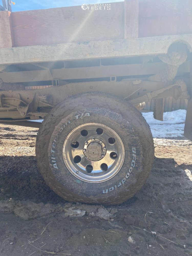 """1996 Ford F-350 Aggressive > 1"""" outside fender on 17x9 -12 offset Ultra 164 and 37""""x12.5"""" BFGoodrich All Terrain T/a Ko2 on Suspension Lift 4"""" - Custom Offsets Gallery"""