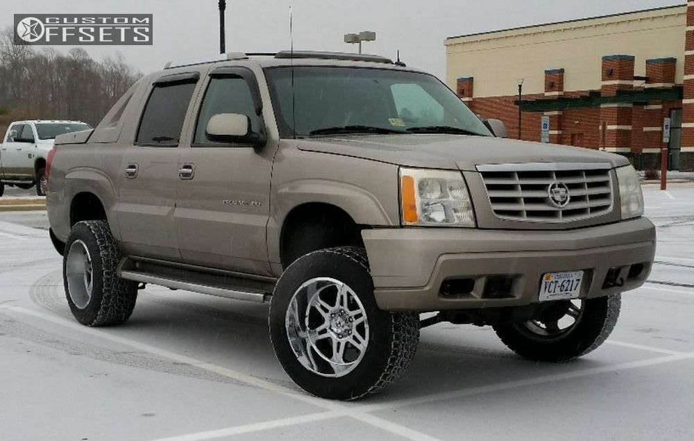 """2003 Cadillac Escalade EXT Super Aggressive 3""""-5"""" on 20x12 -44 offset Hostile Havoc & 305/55 Nitto Terra Grappler G2 on Leveling Kit & Body Lift - Custom Offsets Gallery"""