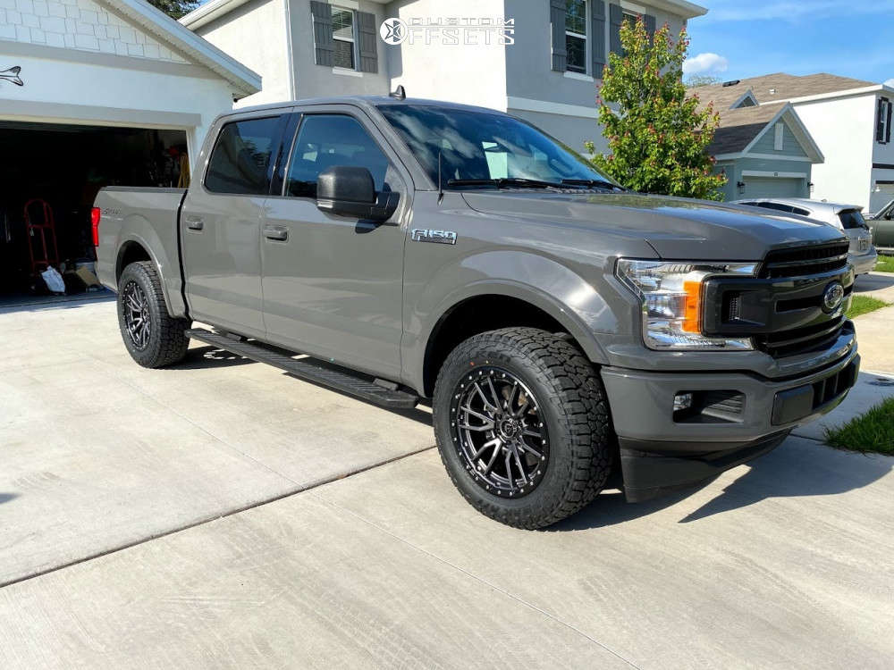 """2020 Ford F-150 Aggressive > 1"""" outside fender on 20x9 1 offset Fuel Rebel & 33""""x12.5"""" Falken WildPeak AT3W on Suspension Lift 2.5"""" - Custom Offsets Gallery"""